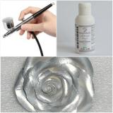 Barva do airbrush metalická stříbrná  100 g