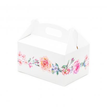 Krabička květinový motiv 10 ks