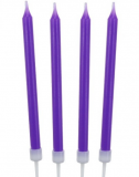 Dortové svíčky fialové  10 ks