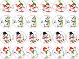 24 ks obrázků z jedlého papíru vánoce 8