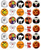 30 ks obrázků z jedlého papíru halloween