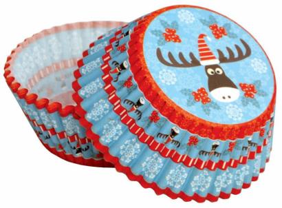Papírové košíčky vánoce - sobík