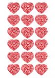 18 ks obrázků z jedlého papíru srdce
