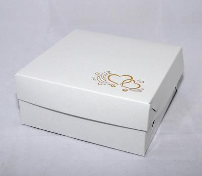 Krabička zlatá ražba srdíčka