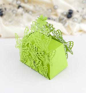 Krabička motýlková malá zelená 1 ks