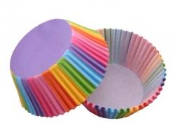Papírové košíčky duhové
