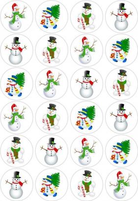 24 ks obrázků z jedlého papíru vánoce 7