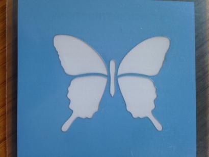Stencila -šablona dekorů motýl