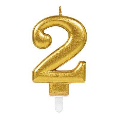 Svíčka  na dort zlatá   2