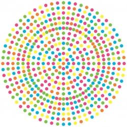 Dortová podložka barevný puntík 27 cm