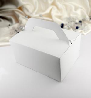 Krabička na výslužku bílá  10 ks