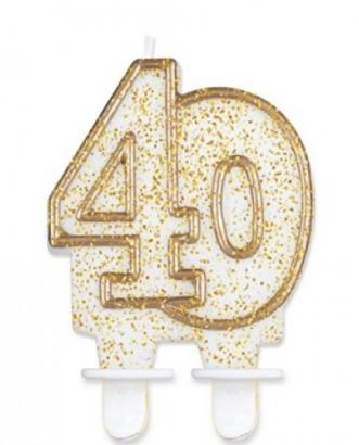 Svíčka narozeninová číslice zlatá  40