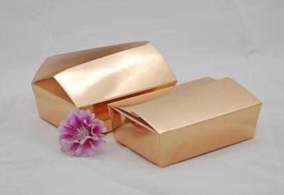 Krabička na pralinky zlatá