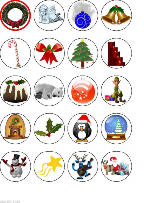 20 ks obrázků z jedlého papíru vánoce 10