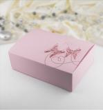Krabička -  růžová  motýl  10 ks