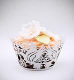Košíčky na cupcakes  12 ks  perleť - holubička