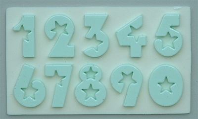 Silikonová forma číslice 2