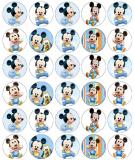 30 ks obrázků z jedlého papíru baby mickey mouse