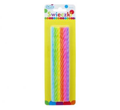 Dortové svíčky dlouhé barevné