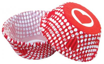 Papírové košíčky srdíčko