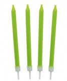 Dortové svíčky zelené 10 ks