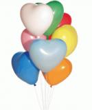 Balonek srdíčko barevné  1 ks