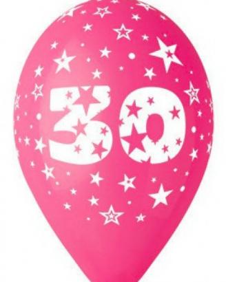 Balonek  30 cm číslo  30