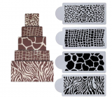 Stencila - šablona dekorů zvířecí vzory  4 ks