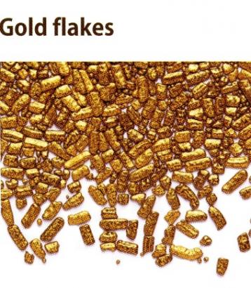 Cukrové plátky zlato