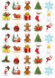 35 ks obrázků z jedlého papíru vánoce 11