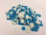 Cukrové vločky modro - bílé  30 g