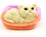 Silikonová forma kočka v košíčku