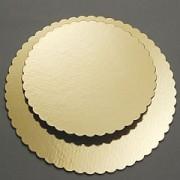 Podložka zlatá vlnka lem  26 cm