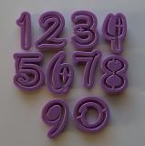 Plastové číslice disney