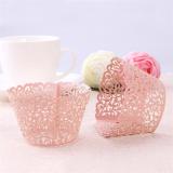 Košíček  na cupcakes  růžová perleť  1 ks