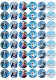 48 ks obrázků z jedlého papíru frozen 2