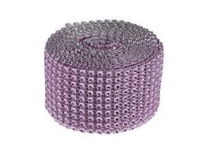 Diamantový pás  5 cm  lila