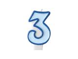 Svíčka modrá 3