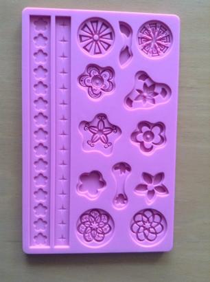 Silikonová forma růžová 2