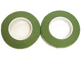 Aranžovací páska zelená  0,6 cm 2 ks