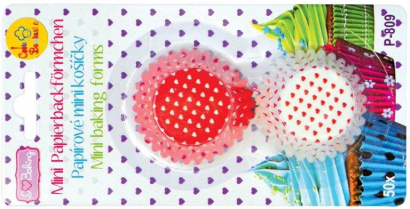 Papírové košíčky malé červene  srdicka