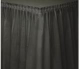 Plastový rautový ubrus  černý 426 x 73 cm