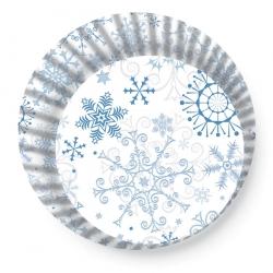 Papírové košíčky sněhové vločky