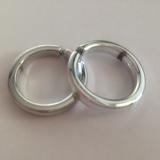 Prstýnky stříbrné hladké 2 ks