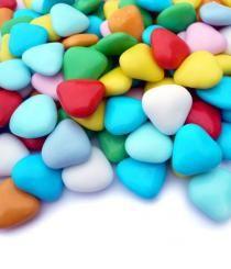 Srdíčka barevná
