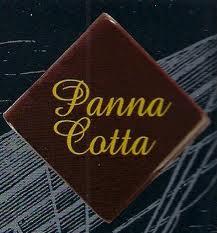 Čokoládová dekorace nápis panna cotta 12 ks