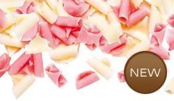 Čokoládové hoblinky růžovo-bílé