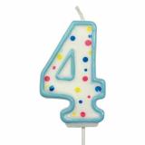Svíčka na dort modrý puntík  4