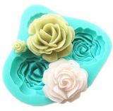Silikonová forma růže  4 ks