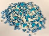 Cukrové dekorace mix modro - bílý   60 g